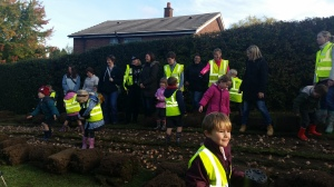 Bulb planting in Knowle with Knowle C of E Academy